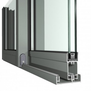 Aluminium sliding doors with locks Rayanaers